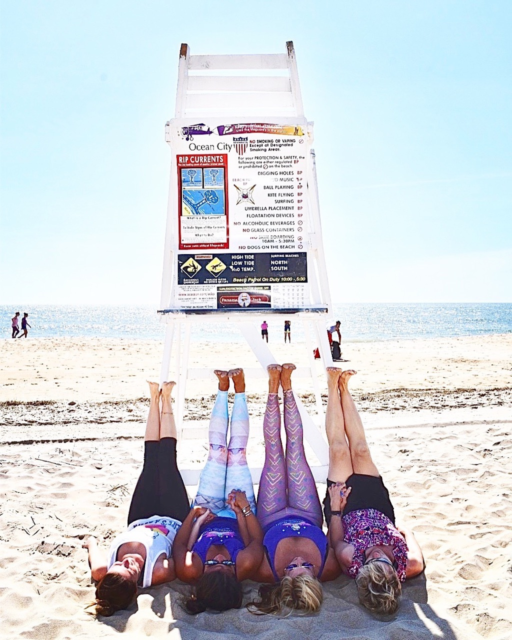 Yoga on Lifeguard Stand